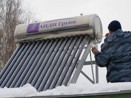 монтаж солнечного коллектора